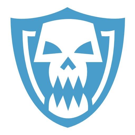 Skull shield icon